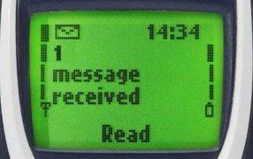 SMS mottatt på en mobil