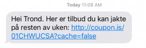 Målgruppe - SMS