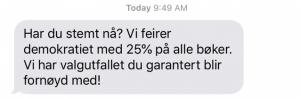 Timing av relevant SMS