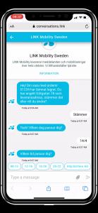 Eksempel på SMS fra logistikkselskap3