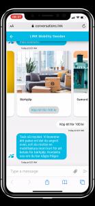 Eksempel på SMS fra logistikkselskap5