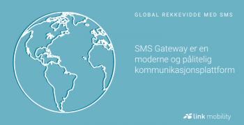 LINK SMS Gateway Global rekkevidde med SMS