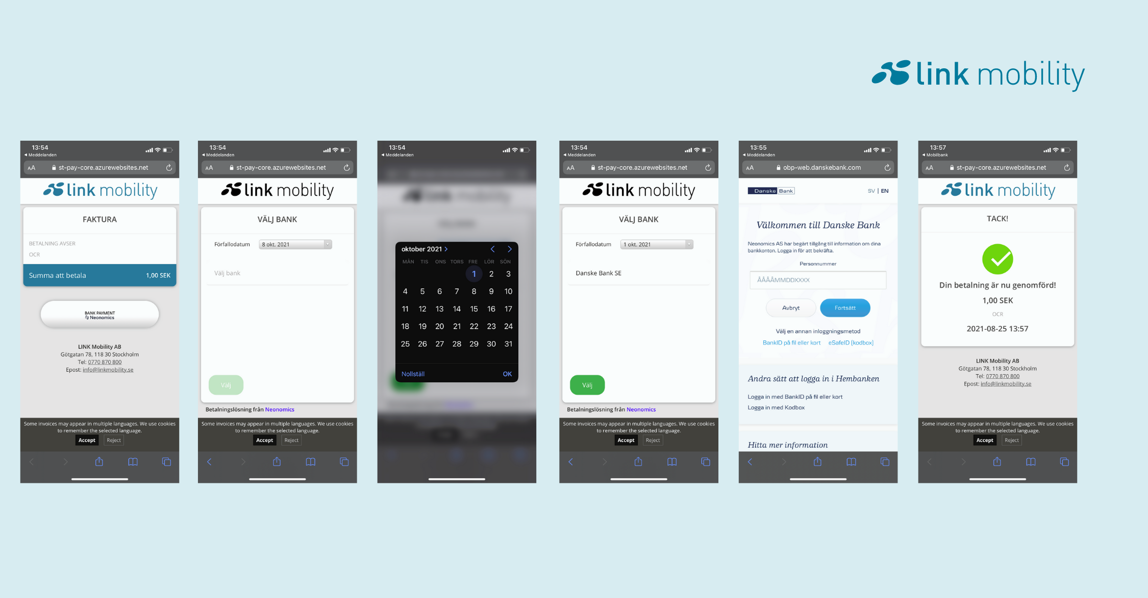 mobilfaktura prosessoversikt